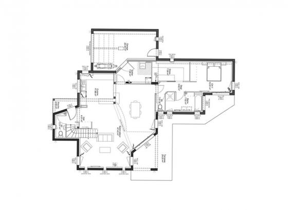 plan-maison-contemporaine-rdc-city