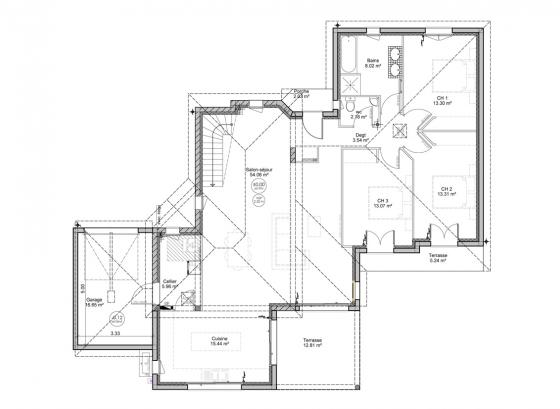 plan-maison-contemporaine-rdc-gabizos